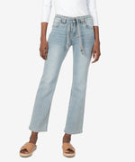 Chrissie High Rise Belted Slim Straight Leg (Attempt Wash) Main Image