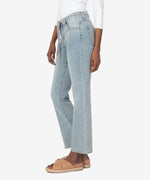 Chrissie High Rise Belted Slim Straight Leg (Attempt Wash) Hover Image