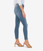 Connie High Rise Fab Ab Slim Fit Ankle Skinny (Appeasing Wash) Hover Image