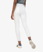 Connie High Rise Fab Ab Slim Fit Ankle Skinny (Optic White) Hover Image