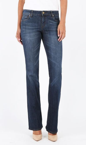 Natalie Bootcut, Long Inseam (Exceptional Wash)-Denim-Kut from the Kloth