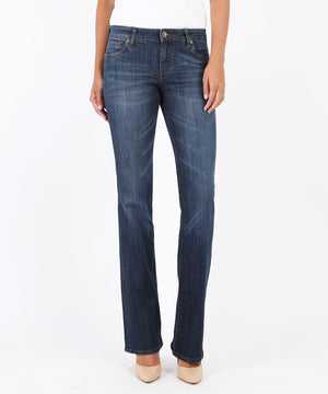 Natalie Bootcut, Exceptional Wash (Short Inseam)-Denim-0s-Exceptional W/Dk Stn Base Wash-Kut from the Kloth