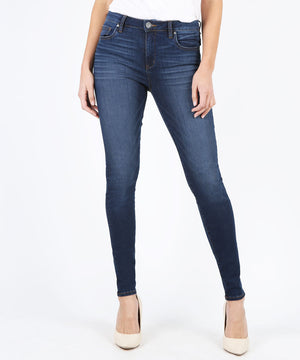 Mia High Waist Slim Fit Skinny (Goodly Wash)-Denim-0-Goodly W/Dk Stone Base Wash-Kut from the Kloth