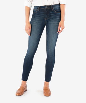 Connie High Rise Slim Ankle Skinny (Goodly Wash)-New-Kut from the Kloth