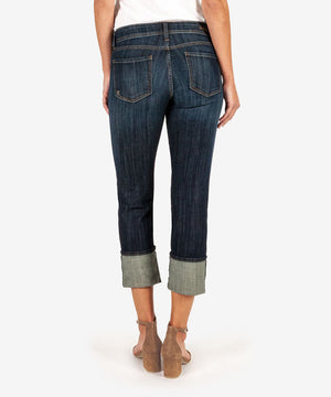 Cameron Cuffed Straight Leg (Opulent Wash)-Denim-Kut from the Kloth