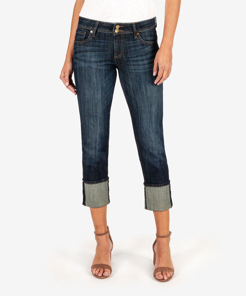 Stevie Cuffed Straight Leg (Opulent Wash)-Kut from the Kloth