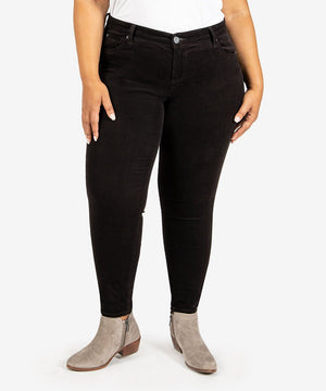 Diana Corduroy Relaxed Fit Skinny, Plus (Black)-New-10W-Black-Kut from the Kloth