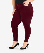 Diana Corduroy Relaxed Fit Skinny, Plus (Burgundy) - Final Sale Hover Image