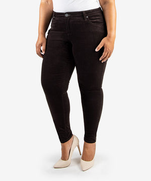 Diana Corduroy Relaxed Fit Skinny, Plus (BROWN BEAN)-New-Kut from the Kloth