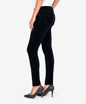 Diana Corduroy Relaxed Fit Skinny, Petite (Black)-New-Kut from the Kloth