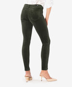 Diana Relaxed Fit Corduroy Skinny (Deep Moss) - Final Sale Hover Image