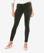 Diana Relaxed Fit Corduroy Skinny (Deep Moss) - Final Sale Main Image