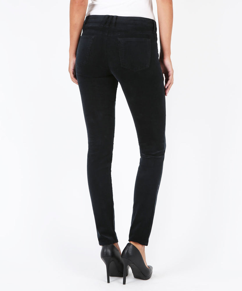 Diana Corduroy Relaxed Fit Skinny (Black)