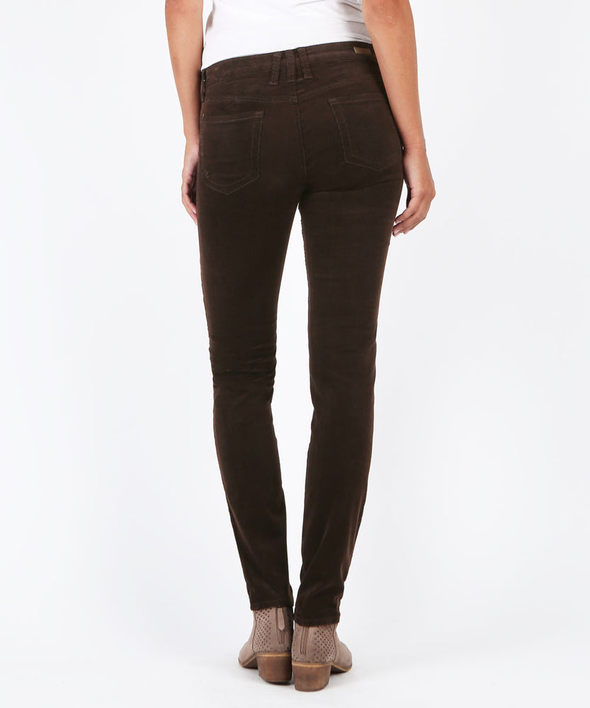 Diana Corduroy Relaxed Fit Skinny (Brown Bean)