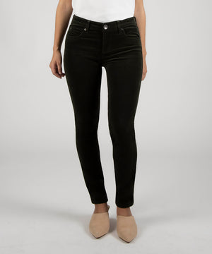 Diana Corduroy Relaxed Fit Skinny, Petite (Army Olive)-New-Kut from the Kloth
