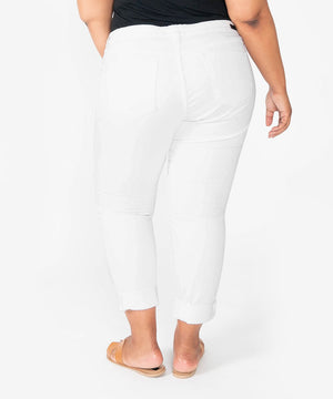Catherine Boyfriend, Plus (White)-New-Kut from the Kloth