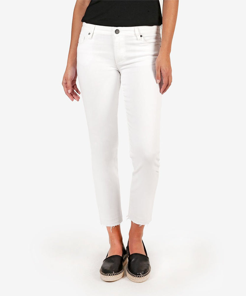 Reese Ankle Straight Leg (White)