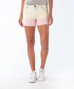 Gidget Fray Short (Yellow/Pink)-New-Kut from the Kloth