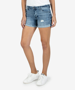 Madeline Boyfriend Short (Research Wash)-Kut From the Kloth