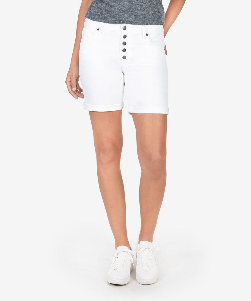 Catherine High Rise Boyfriend Short (White)