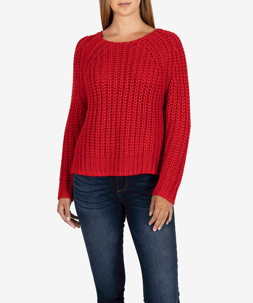 Page Chunky Sweater (Red)