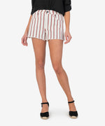 Jane High Rise Short (Ivory/Red Stripe) Main Image