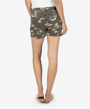 Gidget High Rise Fray Short (Olive)-Kut From the Kloth
