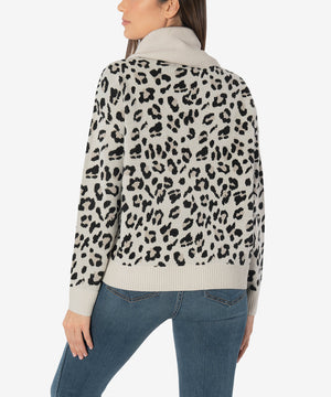 Evea Sweater (Leopard Print)-New-Kut from the Kloth