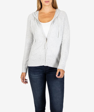 Lana Hoodie Sweater (Heather Grey)-New-Kut from the Kloth