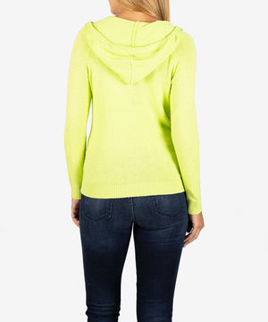 Lana Hoodie Sweater, Exclusive (Neon Yellow)-New-Kut from the Kloth