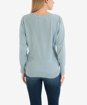 Gaby Sweater (Blue)-New-Kut from the Kloth