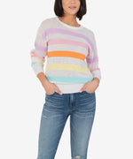 Abriana Multi Stripe Sweater Main Image