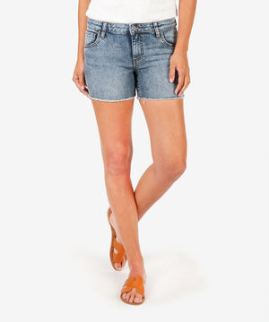 Gidget Fray Short (Reflective Wash)-New-00-Reflective W/Medium Base Wash-Kut from the Kloth