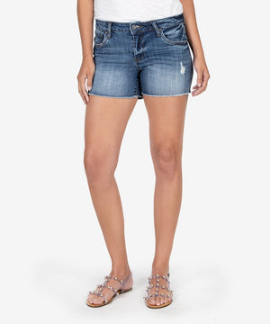 Gidget Fray Short (Openminded Wash)-Kut from the Kloth