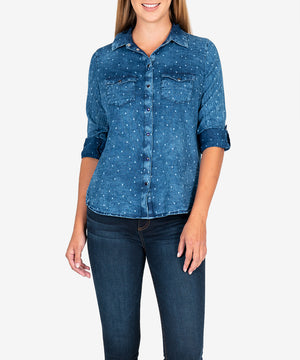 Harlow Denim Shirt-New-Kut from the Kloth