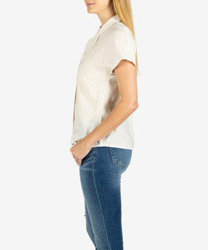 Vera Button Front Top-New-Kut from the Kloth