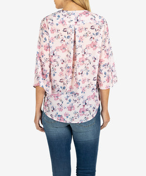 Ivana Wrap Top (Light Rose)-New-Kut from the Kloth