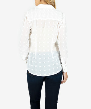 Billa Button Down Shirt (Off White)- Kut From the Kloth