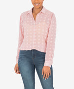 Billa Button Down Shirt (Rose) Main Image