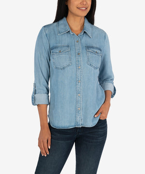 Brielle Button Down Shirt-New-Kut from the Kloth