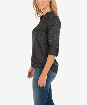 Valencia Blouse (Black)-New-Kut from the Kloth