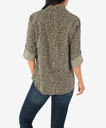 Dakota Animal Print Top Hover Image