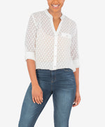Lucero Button Up Blouse (White) Main Image