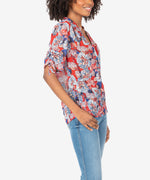 May Floral Tie Sleeve Top Hover Image