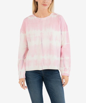 Michaela Tie-Dye Sweatshirt (Rosette)-New-Kut from the Kloth