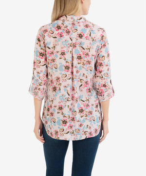 Cam Printed Tencel Blouse-New-Kut from the Kloth