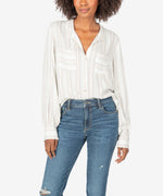 Midori Button Down Top Main Image