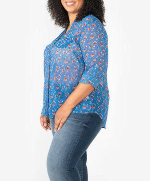 Jasmine Blouse, Plus-Kut from the Kloth