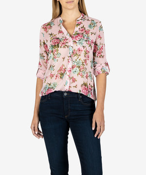 Jasmine Printed Top (Andria Rose)-Kut From the Kloth