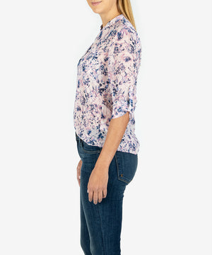 Jasmine Printed Top (Arezzo-Lt Rose)-Kut From the Kloth